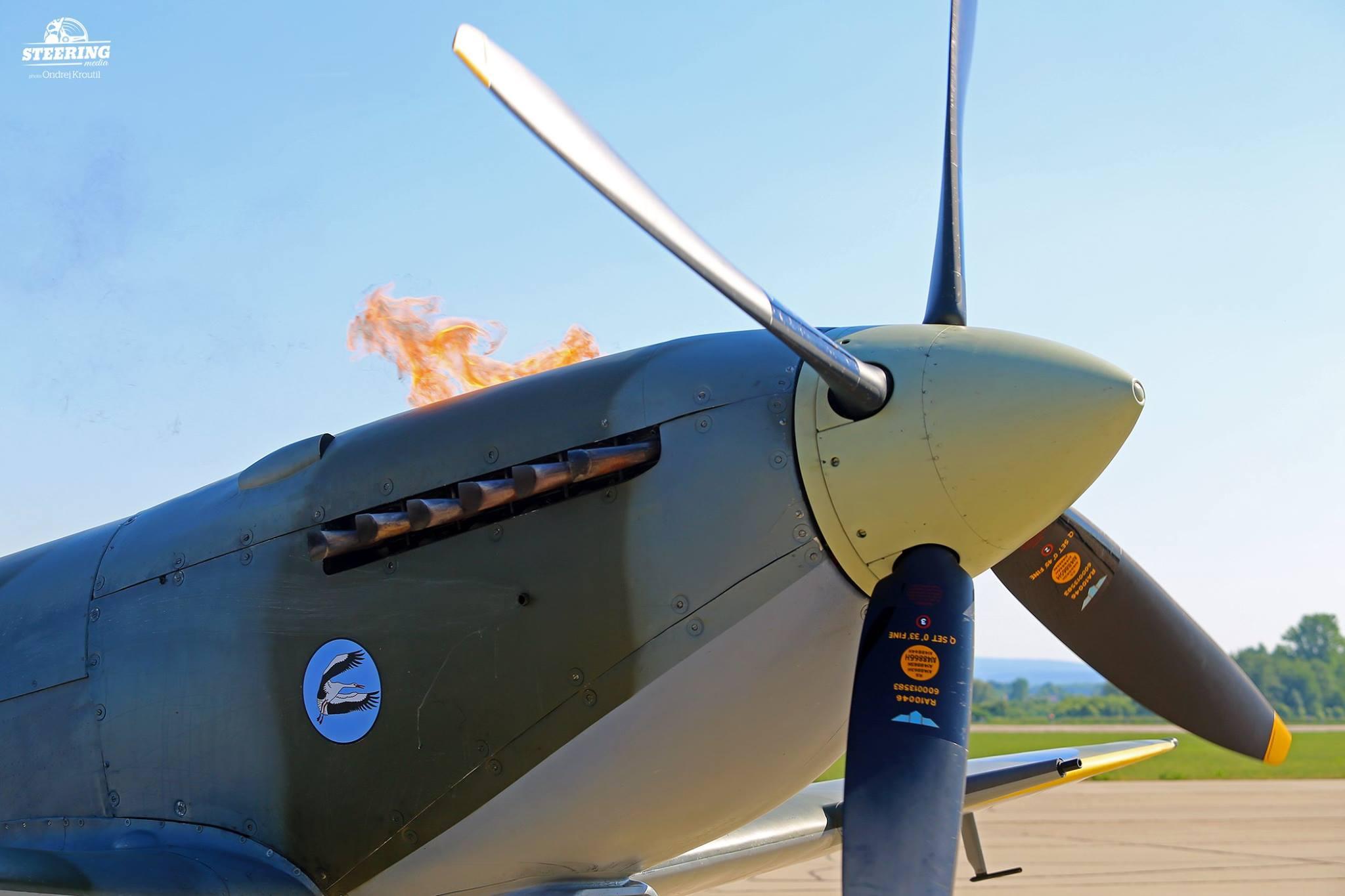 Spitfire flames