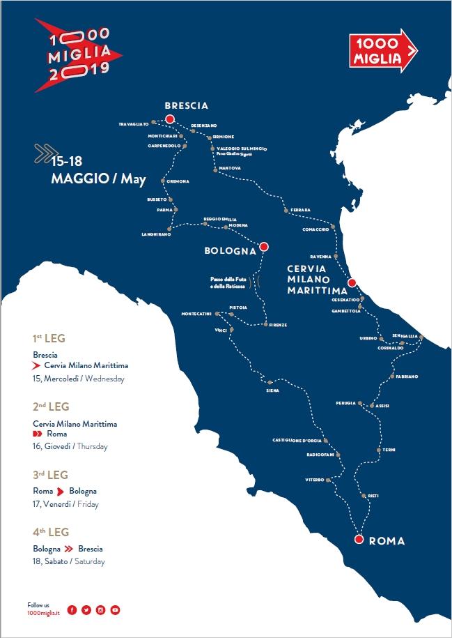 1000 miglia 2019 map